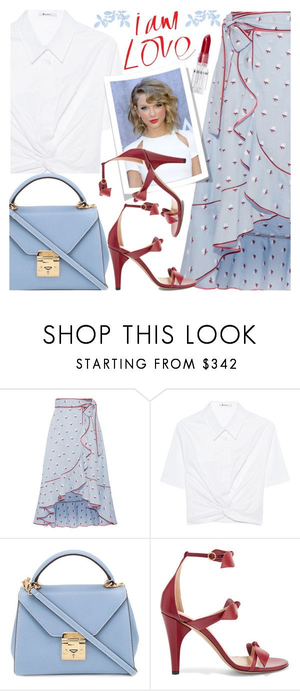 """""""Wrap Skirt & Twist Front Crop Top"""" by brendariley-1 ❤ liked on Polyvore featuring Marc Jacobs, T By Alexander Wang, Mark Cross, Chloé and Rodin"""