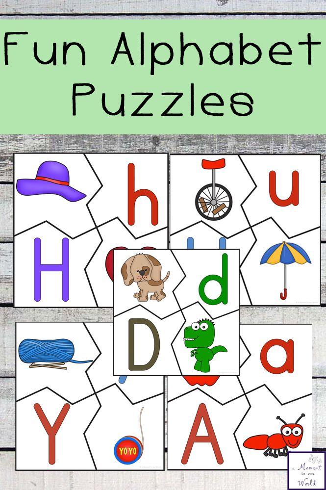Fun Alphabet Puzzles | Actividades para niños, Preescolar y Imprimibles