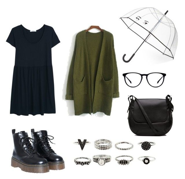 """""""rainy days ☔️"""" by wavvs on Polyvore featuring MANGO, Kate Spade and Witchery"""