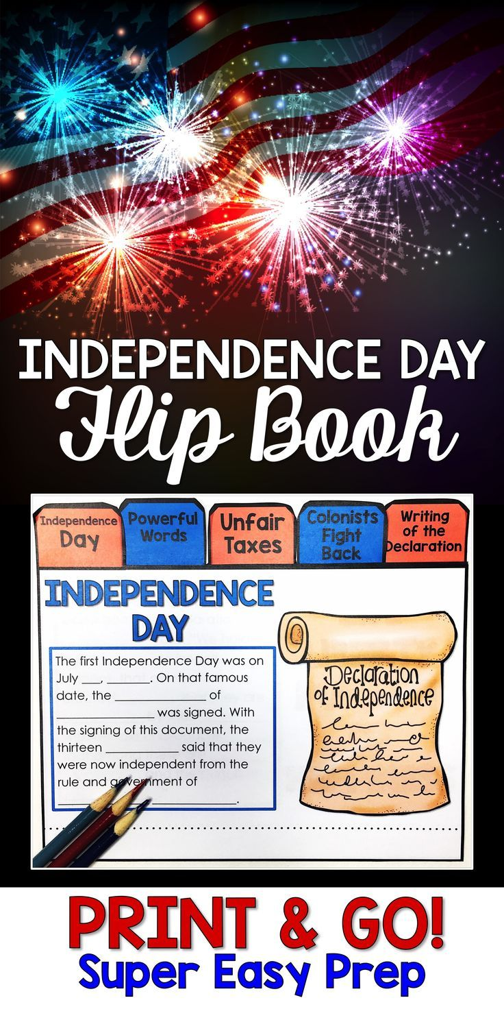 4th Of July Activities Make Learning About Independence Day Fun 3rd 4th And 5th Grade S Flip Book Independence Day Activities High Interest Reading Passages [ 1472 x 736 Pixel ]