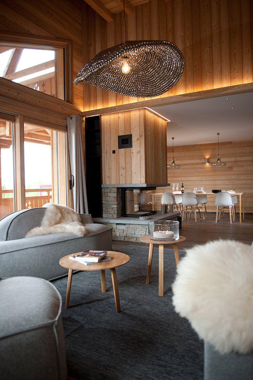 Chemin e bois m l ze et pierre luzerne appartement en suisse chalets bayrou details - Deco cheminee interieur ...