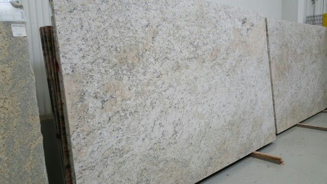 """""""Fantastic white leather"""" granite Chose my slabs today"""