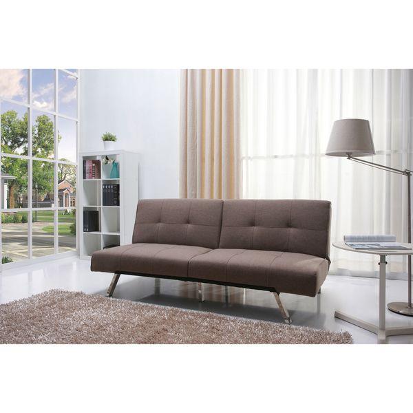 Jacksonville Mocha Fabric Futon Sofa Bed