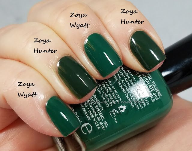 Zoya Wyatt vs. Zoya Hunter | My Nails | Pinterest