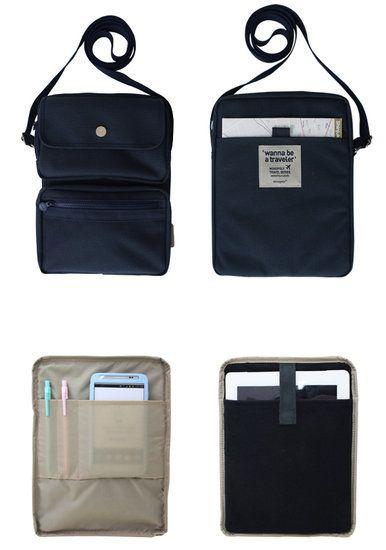 Large Wanna Be a Traveler Travel Bag