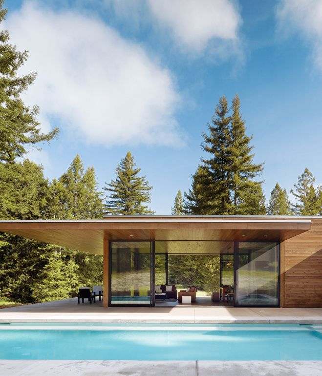 Sustainable Glass House in Sonoma by architect Julie Dowling - prix des gros oeuvres maison