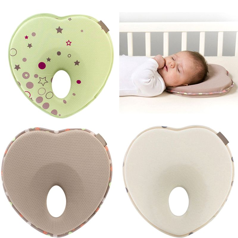 Memory Foam Baby Head Positioner Pillow Soft Prevent Flat Head For 3-12M Infant