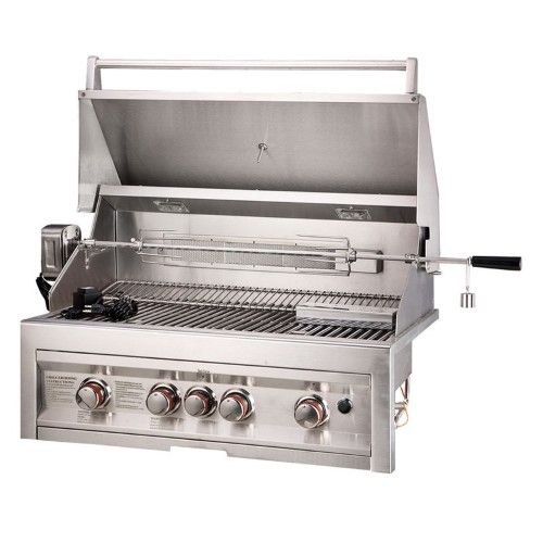 Sunstone Grills 4 Burner 34 In Built-In Gas Grill, Silver Grills