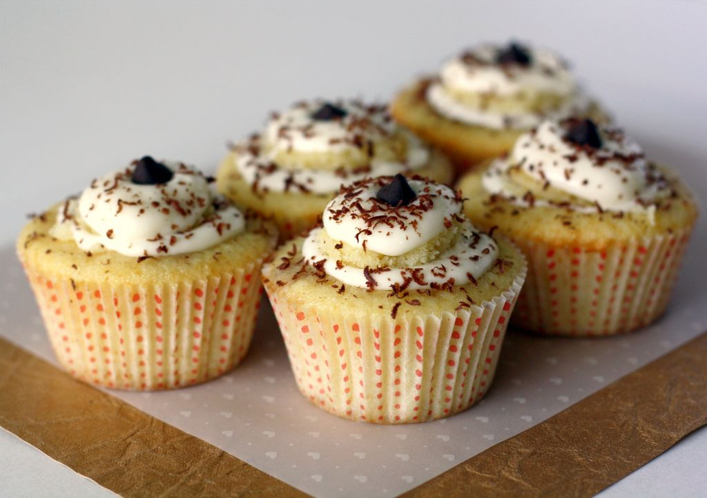 Tiramisu Cupcake recipe. I've made these before and they were delicious. A bit tedious though, but well worth it.