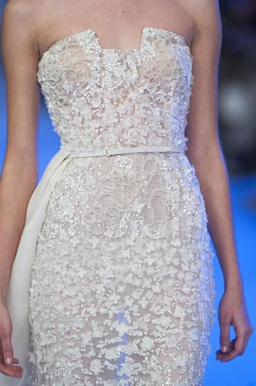 Elie Saab spring 2014 couture details