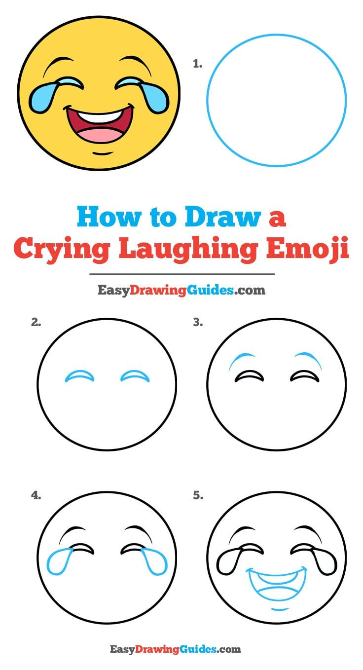 How To Draw A Crying Laughing Emoji Art Drawings For Kids Easy Drawings Emoji Drawings