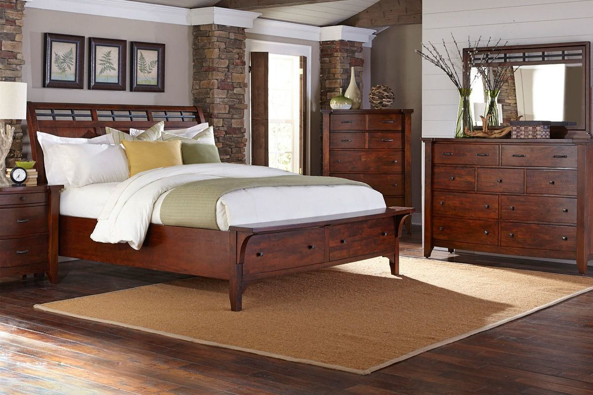 """Whistler 5Piece Queen Bedroom Set with 32"""" LEDTV from"""