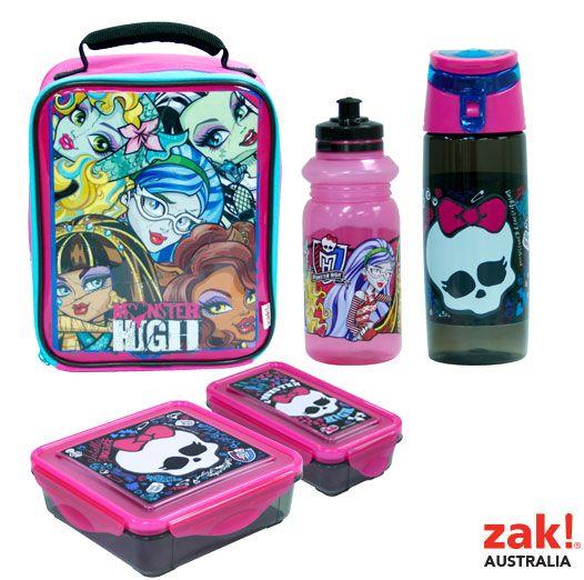 Zak Australia Monster High Back To School Range For Coles