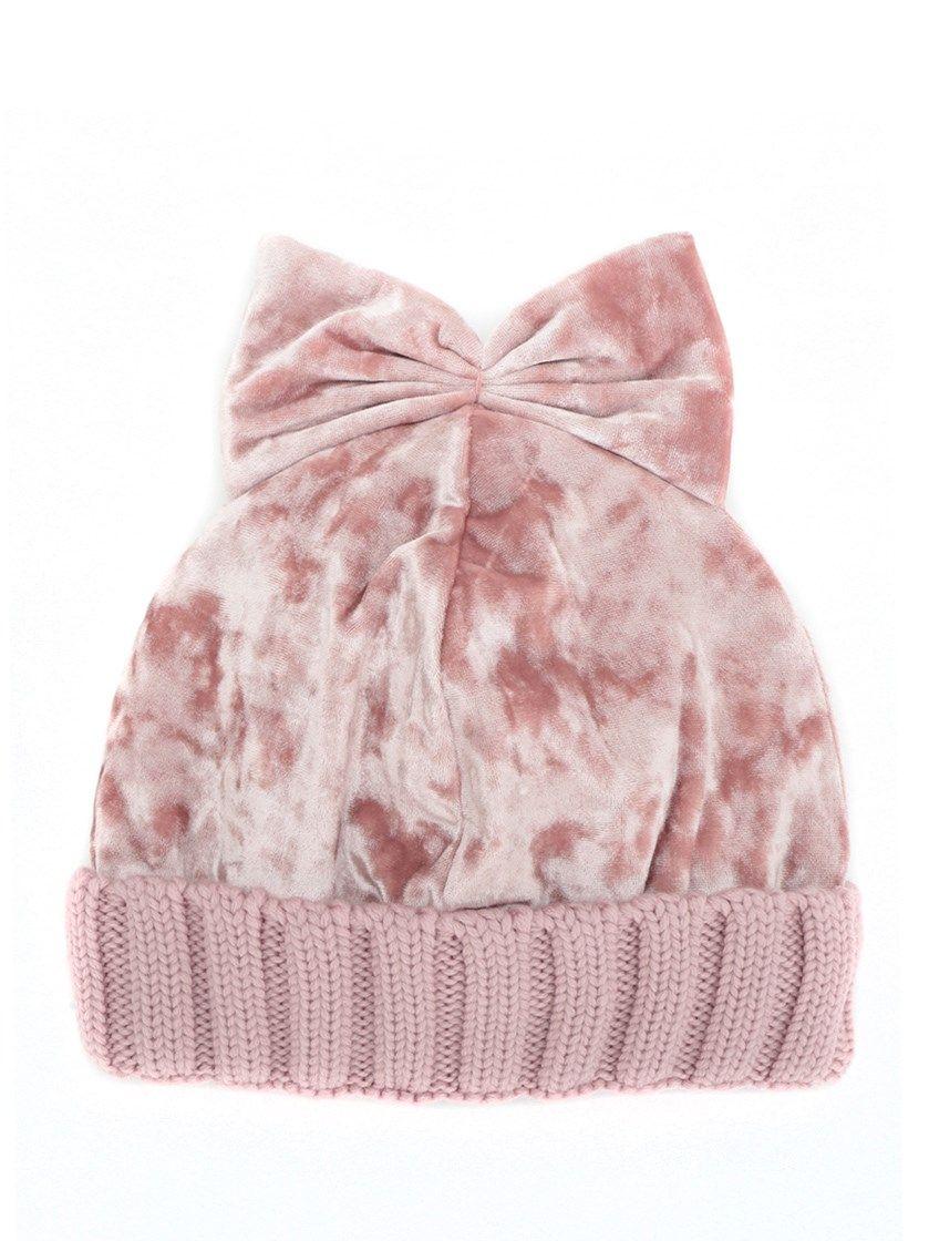 velvet bow beanie - Pink & Purple Federica Moretti amRYjP