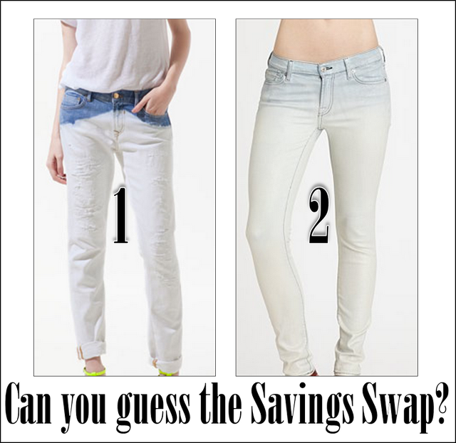 Can you guess the look for steep vs. the look for cheap?
