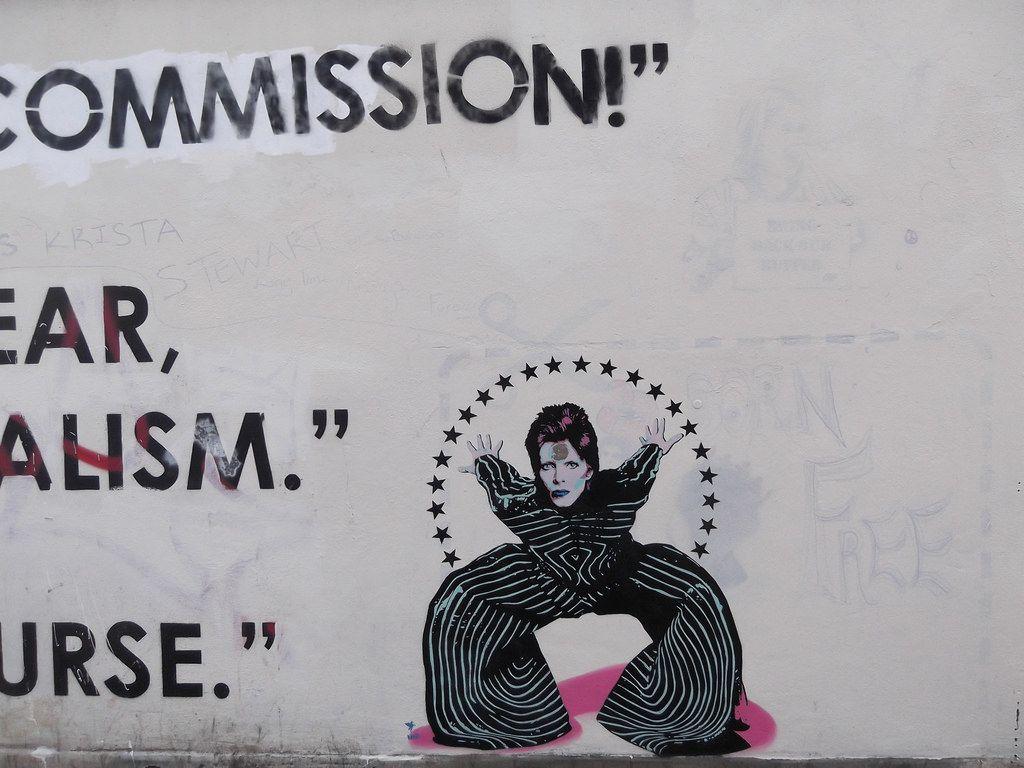 30th January 2016 (themostinept) Tags: london wall graffiti words stencil davidbowie haringey woodgreen turnpikelane n22 whymarkavenue