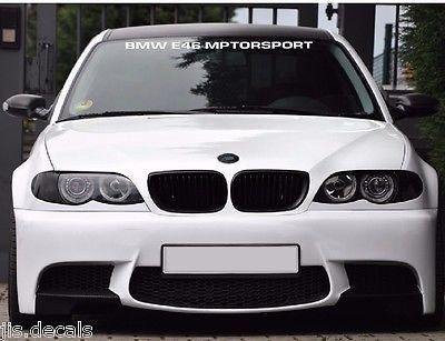 BMW E46 WINDSHIELD DECAL BMW Decals Bmw e46, 2011 bmw