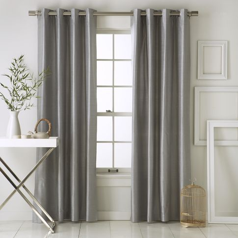 silk ds in pewter color from West Elm for living room, dining ...