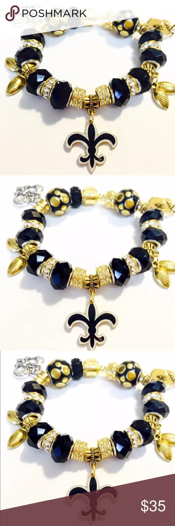 NFL New Orleans Saints Charm Chain Bracelets