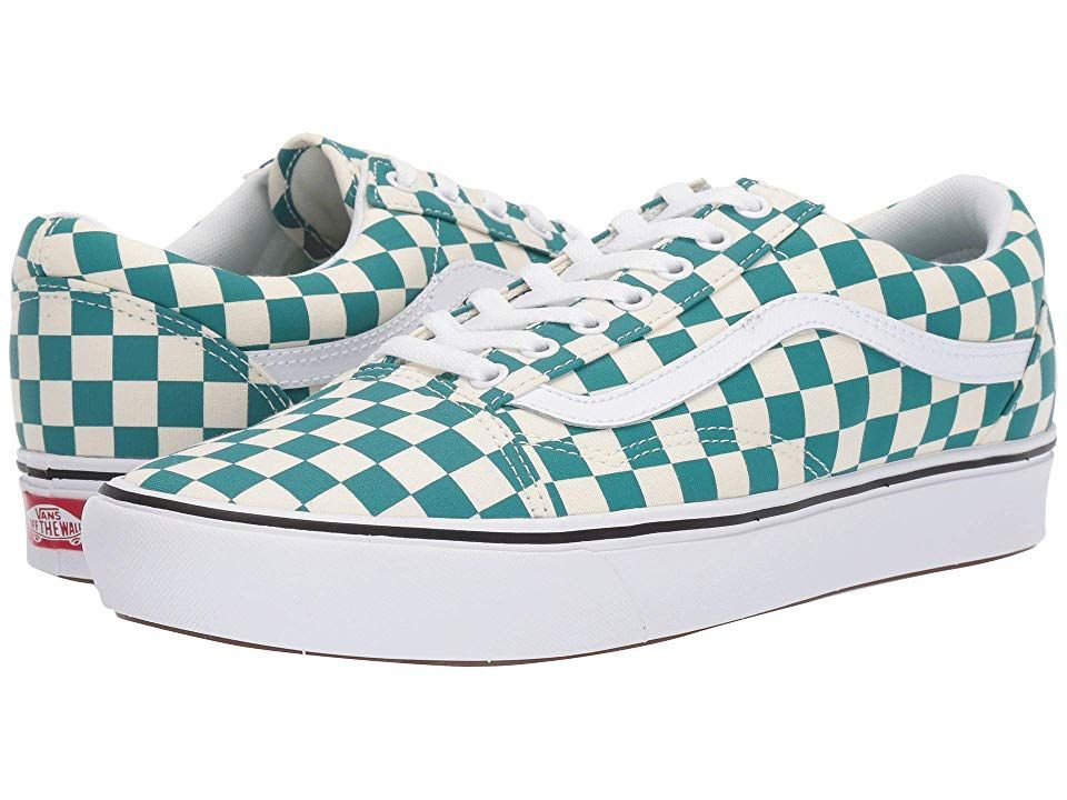 Vans Comfycush Old Skool Athletic Shoes (Checker) Quetzal ...