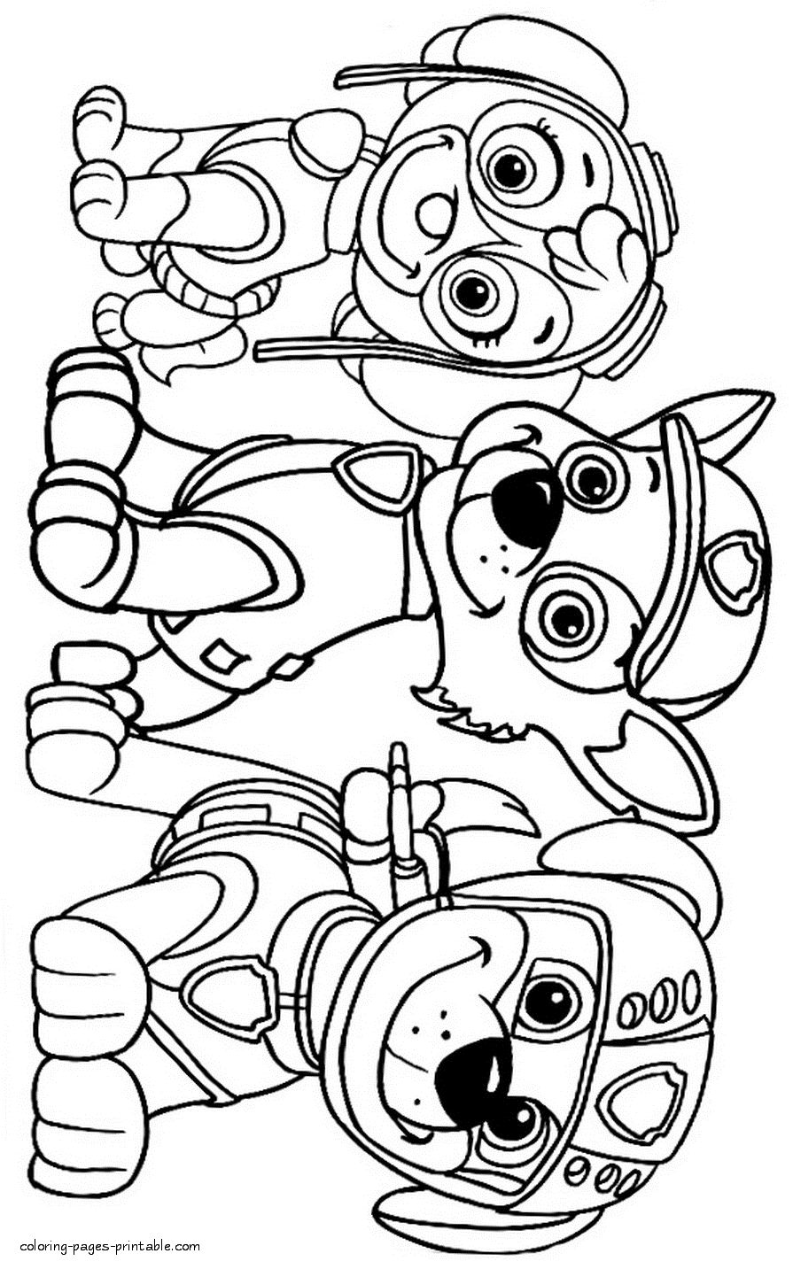 45+ Cartoon coloring pages paw patrol information