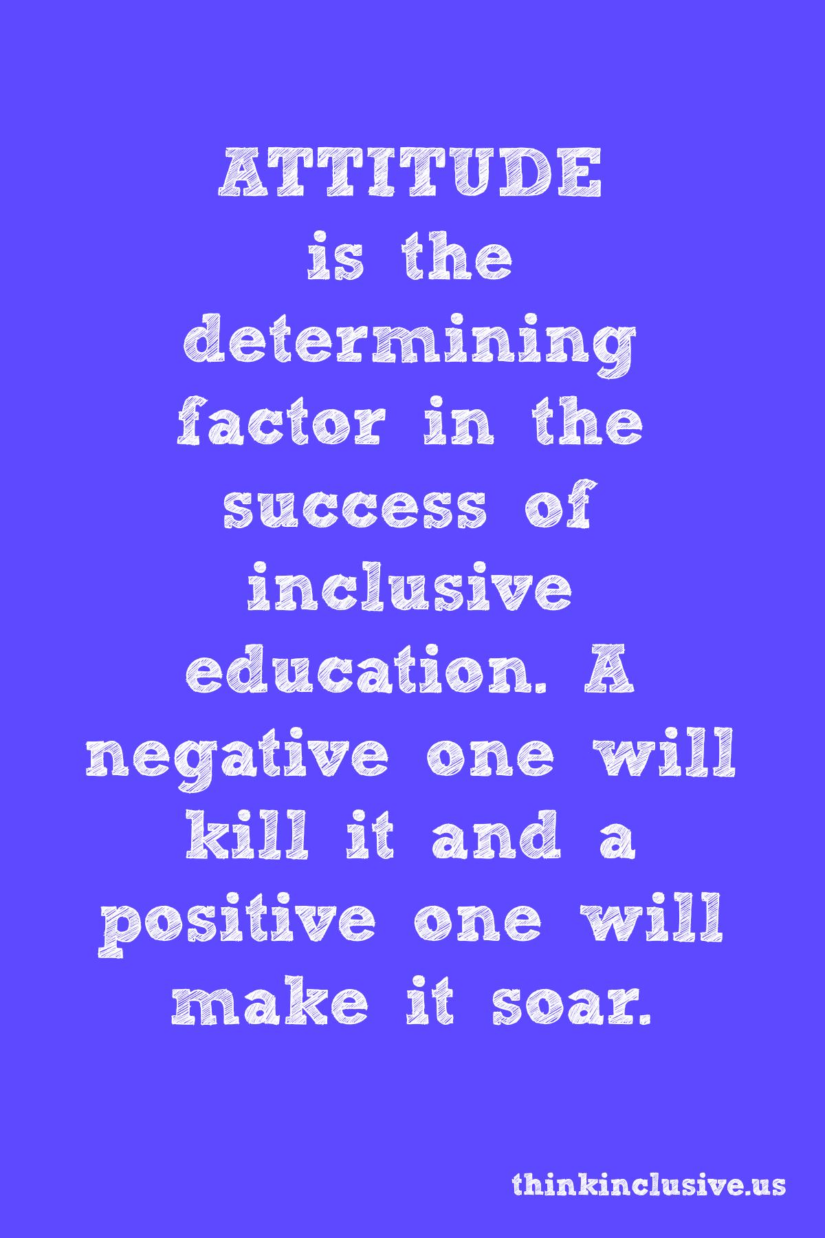 Attitude Can Make Or Break Inclusive Education