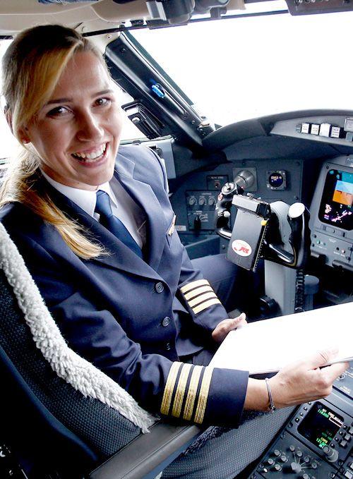 Alja Bercic Ivanus Slovenian Female Airline Captain | #Slovenian #Female # Pilot