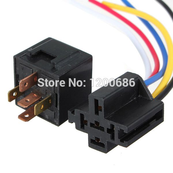 12v 30 40 A Amp 5 Pin 5p Automotive Harness Car Auto Relay Socket 5 Wire Relay Amp Car