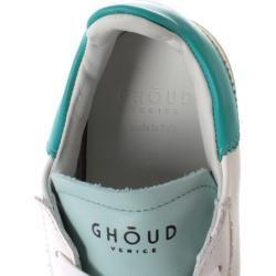 Photo of Ghoud Sneakers Frau Sneakers Leder Weiß Türkisfarbenes Wasser