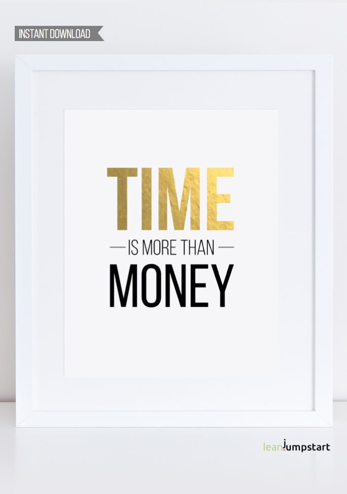The More You Learn Money Motivational Positive Quote Typography Print Poster