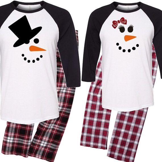 Snowman Couple s Pajama Set Mr. and Mrs. Pajama by BeforeTheIDos   beforetheidos  christmas ad064b1a1