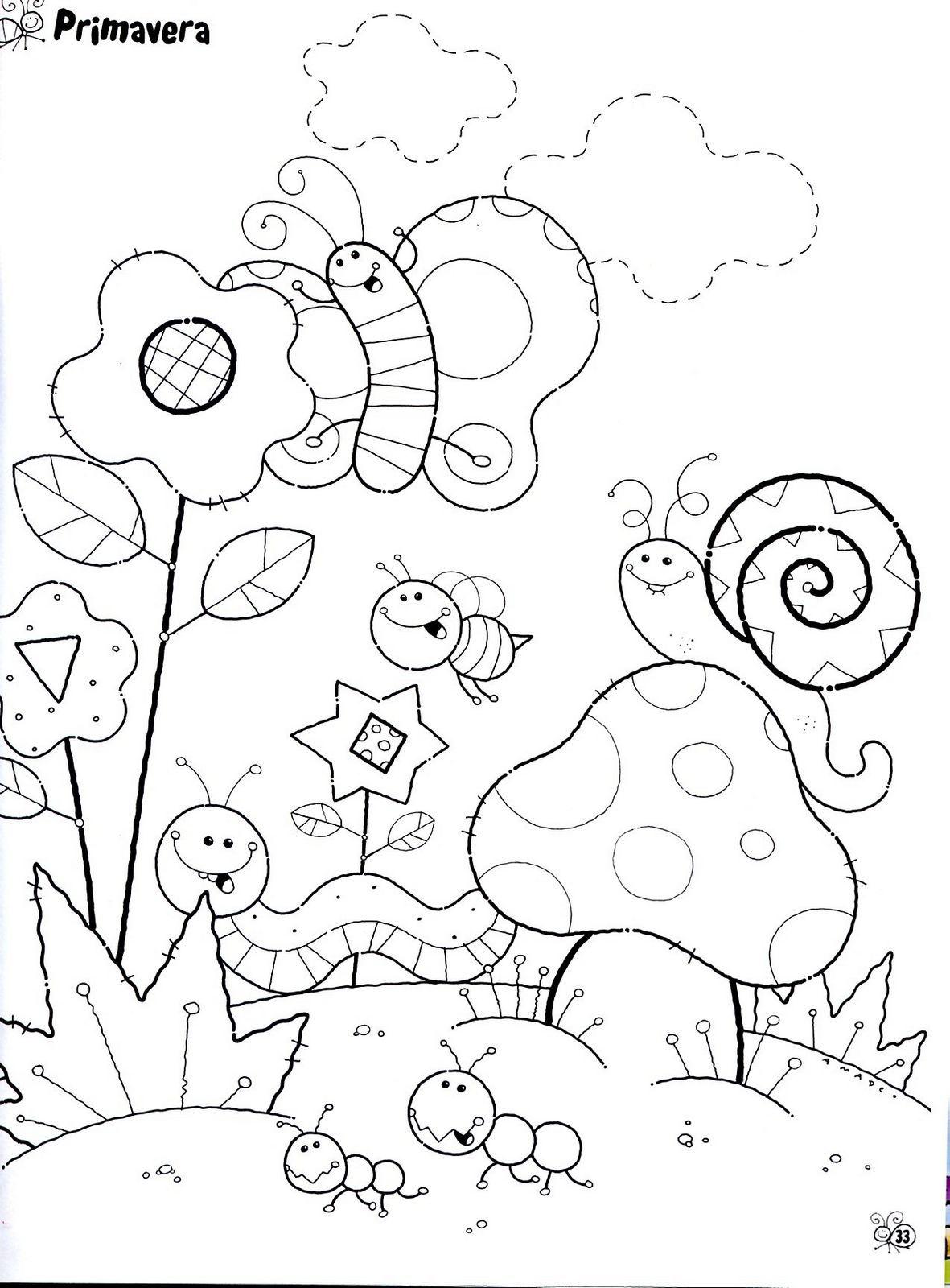 dibujos de primavera para colorear | dibujos | Pinterest | Dibujos ...