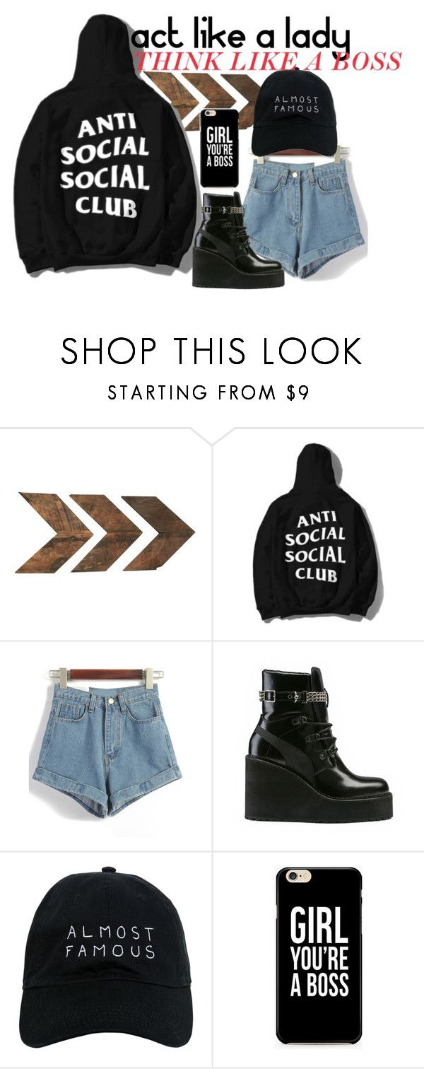 """""""anti social girl"""" by luckytania on Polyvore featuring Puma and Nasaseasons"""