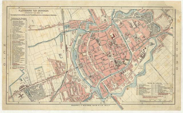 1899 Groningen #groningen #map #city #vintage   Antique maps for ...