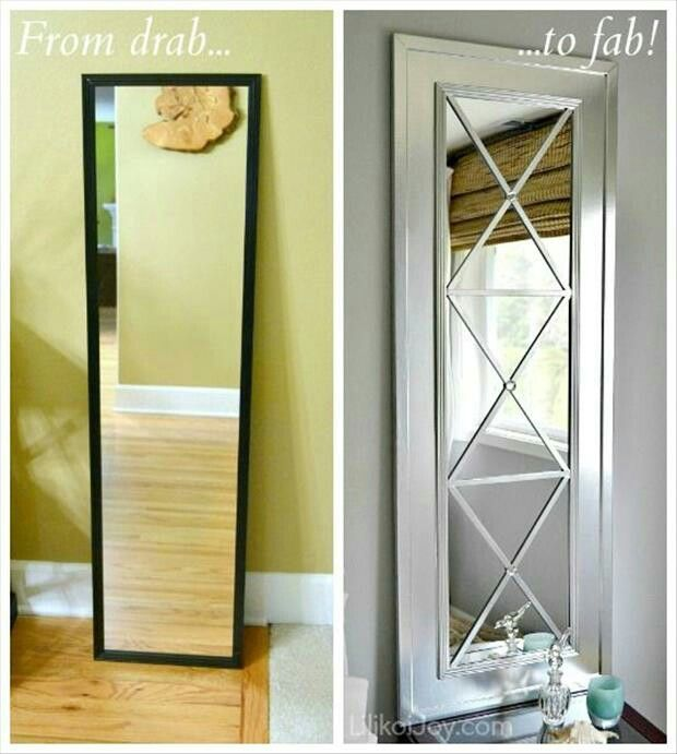 Love this idea.. I have 3 of these ugly mirrors in the house. (No ...