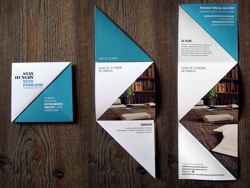 Identidad Stay Hungry Stay Foolish Boocles Graphic Design Brochure Pamphlet Design Brochure Design Creative