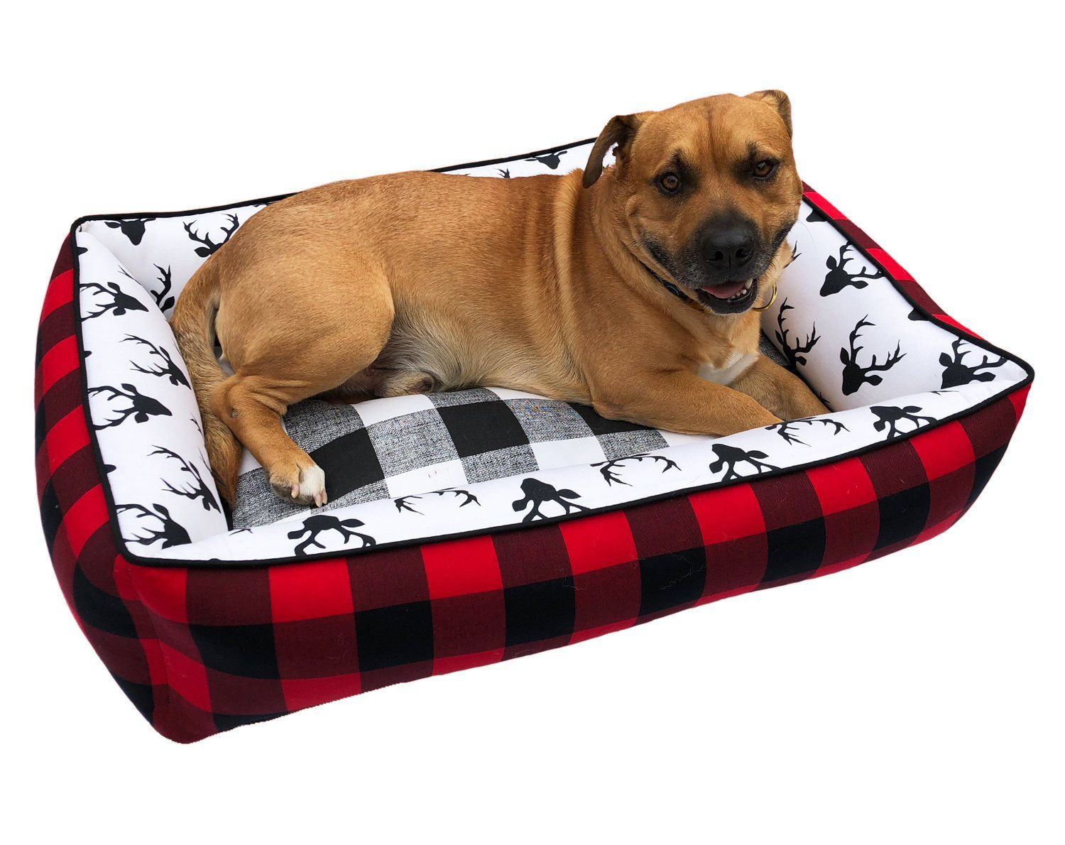 Buffalo Plaid Pet Bed Dog Bed Personalized Plaid Dog Bed Plaid Bedding Large Dog Bed Lumberjack Dog Bed Plaid Pet Bed Pet Beds List Of Fabrics Dog Bed Pillow Fabric