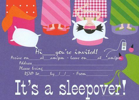free sleepover invitations