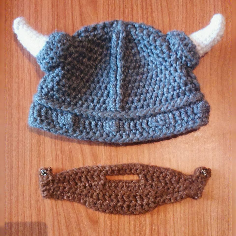 4b9e6e683f673 Baby Viking crochet hat. Crochet beanie. Viking Helmet. Newborn ...