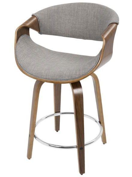 Wood Counter Height Bar Stool Kitchen 24 Swivel Chair Island Mid