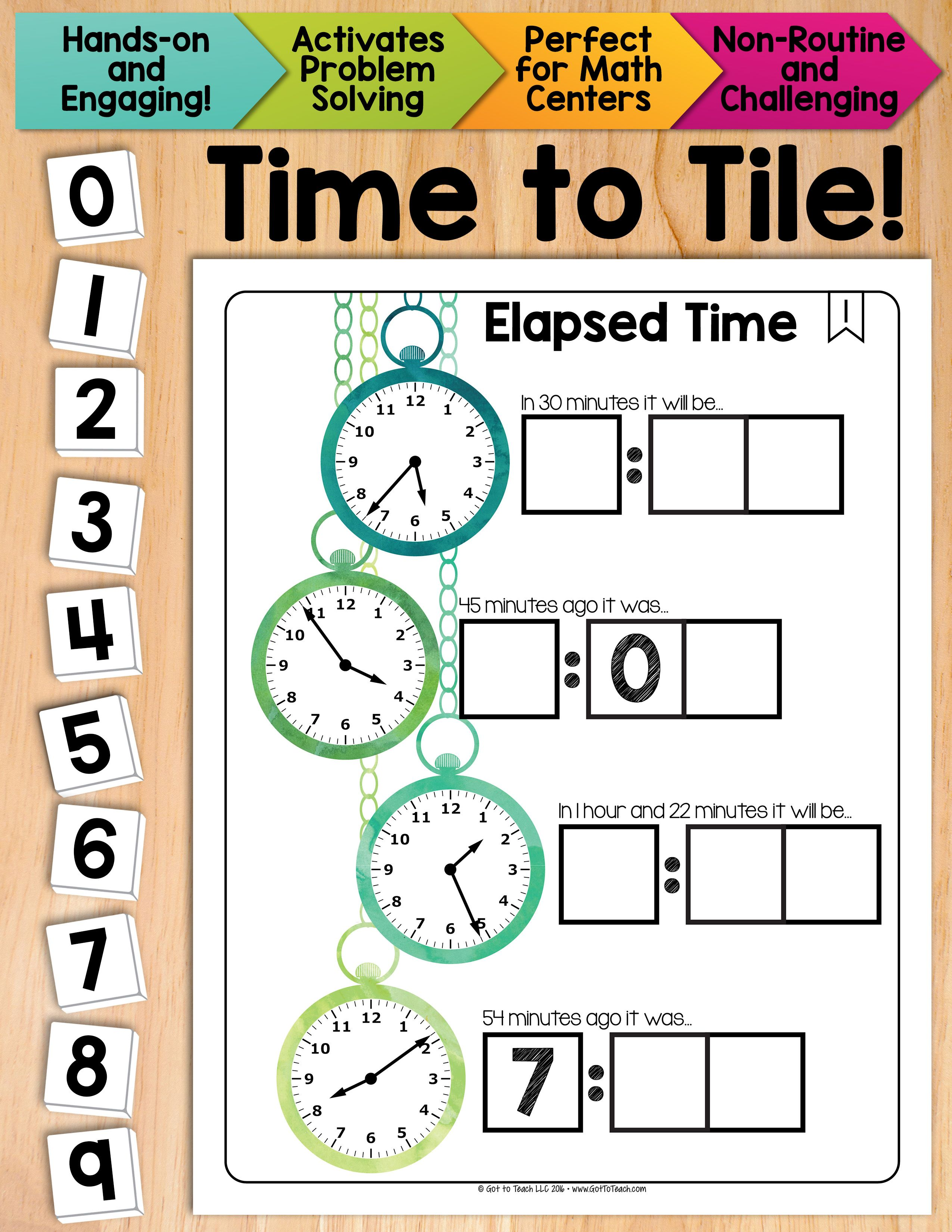 Worksheet Rote Math math tiles elapsed time centers problem solving the o reinforce concept of with hands on a fun and
