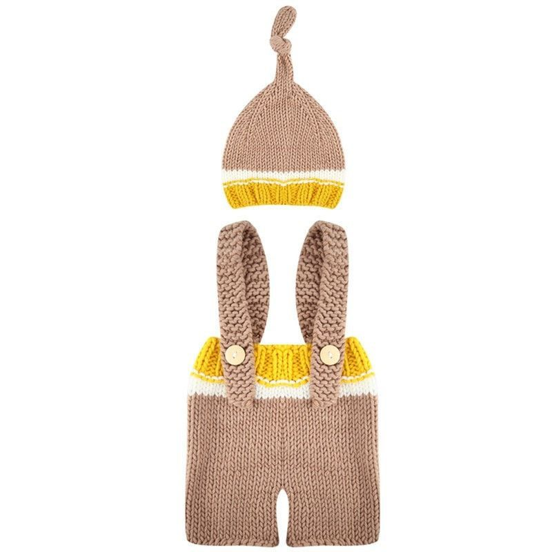 Soft Knitted Hat & Pants Set