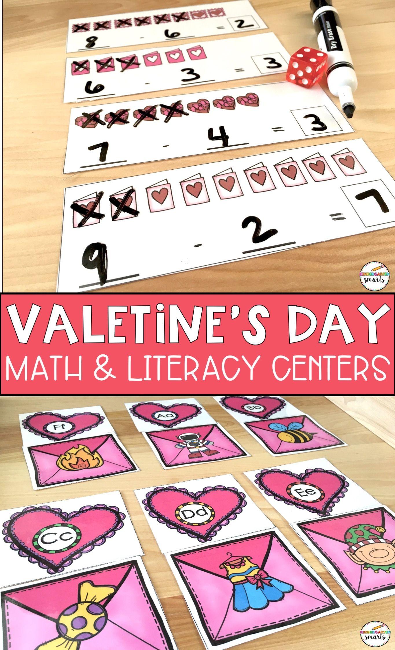 Valentine S Day Centers Math Amp Literacy Activities