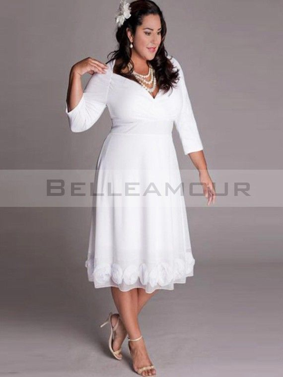 Robe cocktail blanche grande taille pas cher
