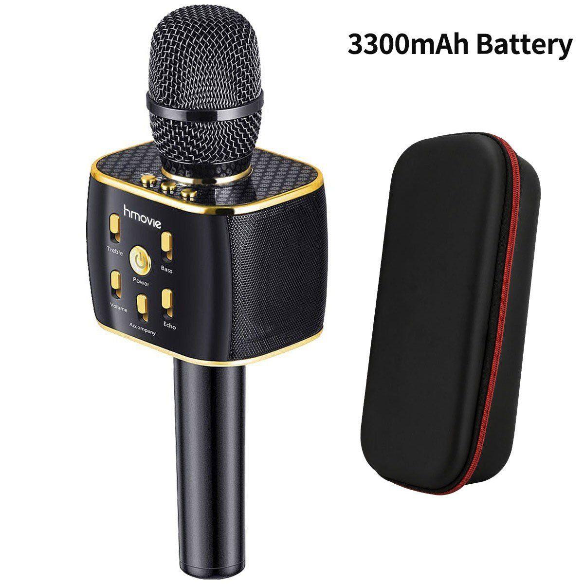 3300mah wireless karaoke microphone 12w hifi bluetooth