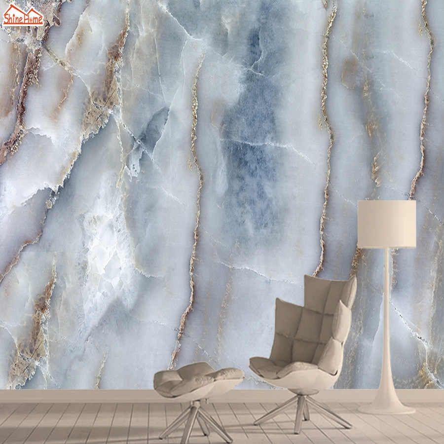 Wellyu Photo Wallpaper Custom Wallpaper Elegant Light Luxurious Golden Blue Textured Tv Background Wall Tapety Behang Tv Background Custom Wallpaperwall Wall Painting Living Room Blue Marble Wallpaper Living Room Murals