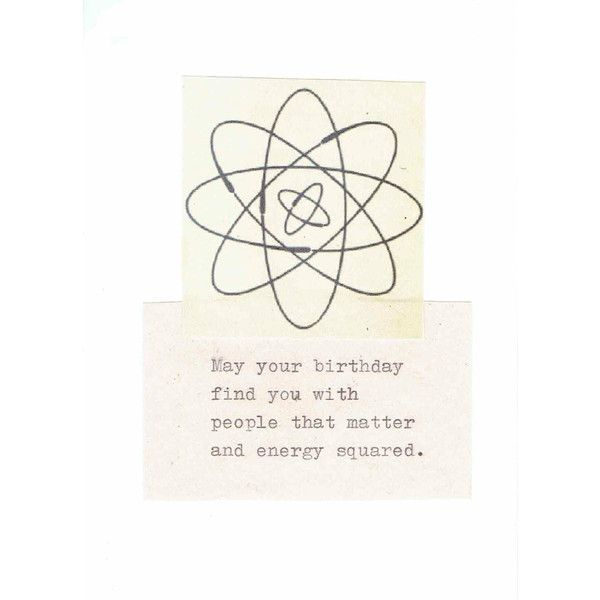 Energy Squared Funny Physics Birthday Card Vintage Science Humor Liked On Polyvore Featuring Men S Physics Humor Greeting Card Inspiration Birthday Cards