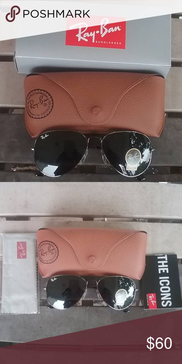 a346daaf8 Brand New Black RayBan Aviators 58mm Never Worn Brand new never worn. Great  price Ray-Ban Accessories Glasses