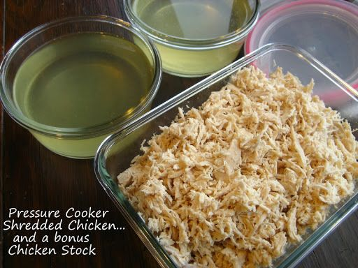 Home Cooking In Montana: Pressure Cooker Shredded Chicken... with a bonus Chicken Stock.