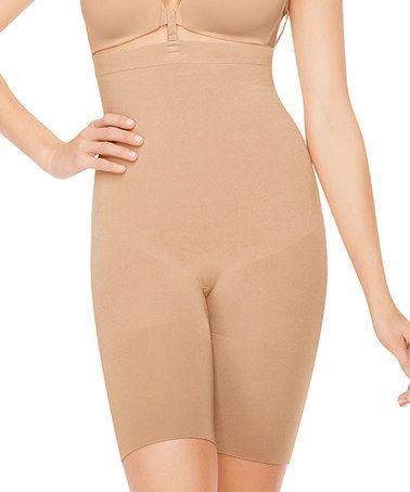 Look at this #zulilyfind! Slim Cognito Shaping Mid-Thigh Bodysuit - Nude #zulilyfinds